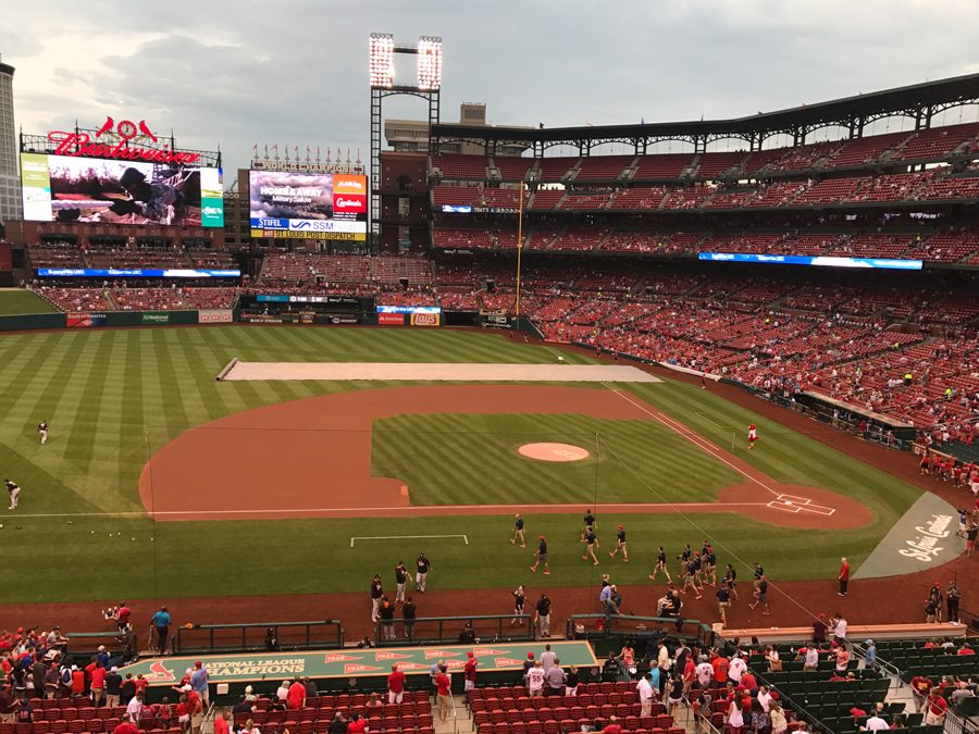 Dominic Hoscher enjoys spending his time watching baseball at Busch Stadium.