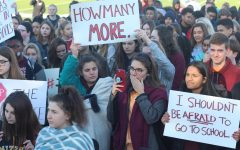 FHN students at the walkout held by student leaders on March 14.