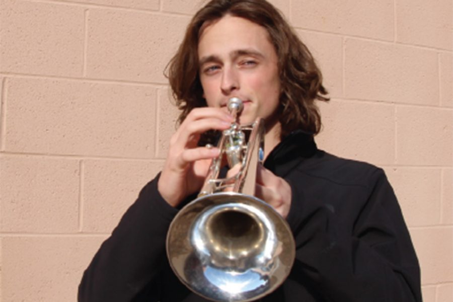 Senior+Ian+Perry+plays+his+trumpet.+Perry+was+accepted+into+a+drum%0Acorps+in+January.+%E2%80%9CMy+first+thought+when+I+saw+I+was+accepted+was%0Ajust+wow%2C%E2%80%9D+Perry+said.