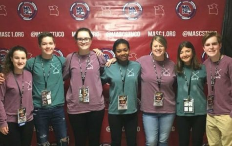The group of FHN students that went to the MASC State Convention attended sessions to share ideas, listened to keynotes speakers to learn more about leadership and participated in group activities to celebrate their hard work. The group included [from left to right] Sarah Zimmerman, Connor Ray, Hannah Wilson, Jayla Bryant, Jani Wilkens, Michaela Mihova and Brendan Gannon.  (photo submitted)