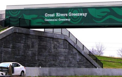 The Great Rivers Greenway bridge lays across Highway 364 and 94.