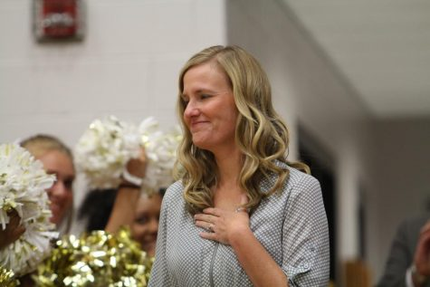 On August 28, Shelly Parks was announced as the Missouri State Teacher of the Year in a surprise assembly during the school day. The assembly was held between second and third hour in the large gym. The whole student body, staff and many board members were in attendance to congratulate Parks.