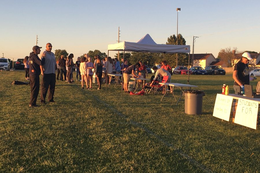 Community members were invited to a community movie