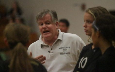 Coach Kent Stover Digs Into the Season with Girls Volleyball