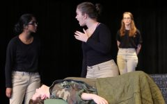 Sophomore Zoë Meier performs in one of her roles in last year's fall play,