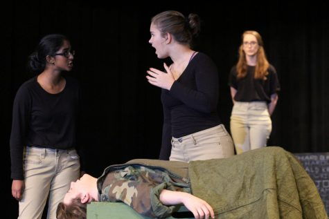 Sophomore Zoë Meier performs in one of her roles in last year