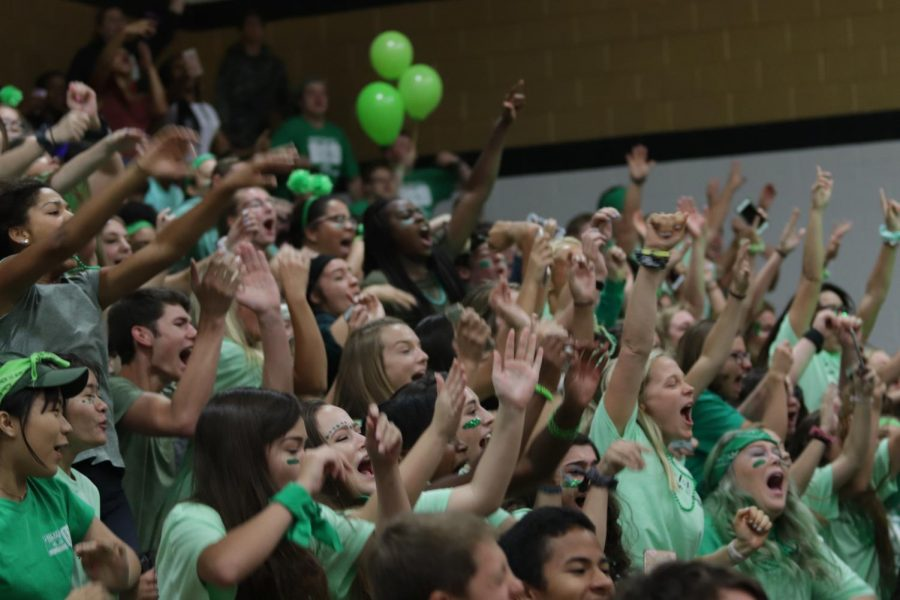 On+Sept.+14%2C+FHN+held+its+annual+Homecoming+Pep+Assembly.+Students+were+invited+to+wear+their+class+colors+at+the+assembly+and+cheer+on+classmates+during+games.