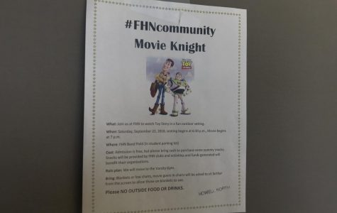 "FHN Clubs Hold ""Toy Story"" Movie Night for Community"