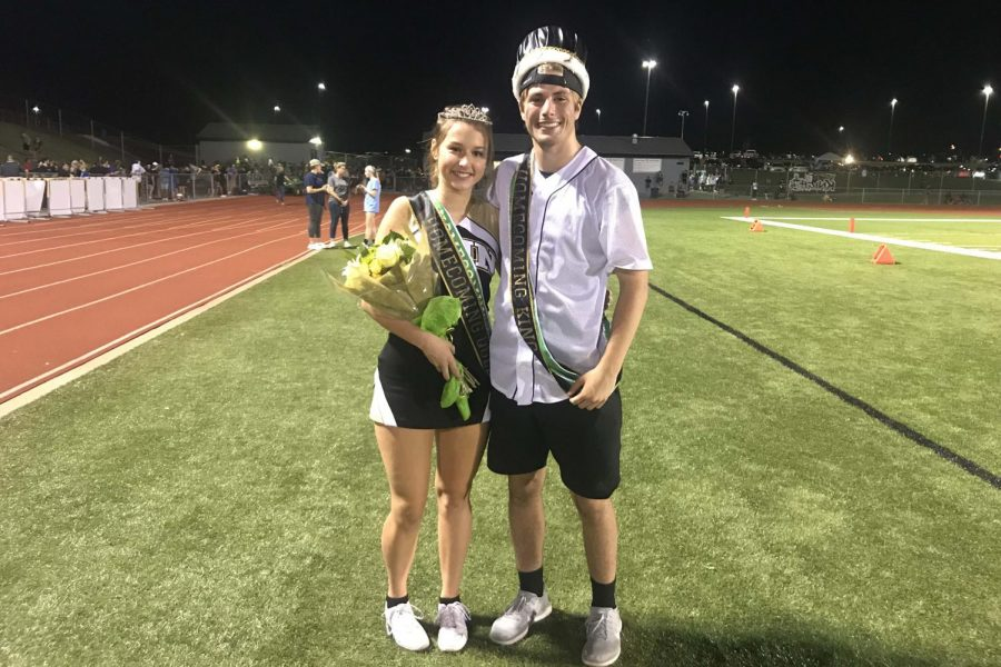 Seniors Dillon Lauer and Jada Adkinson were announced as Homecoming King and Queen on Sept. 14. It was announced during halftime at the Homecoming football game.