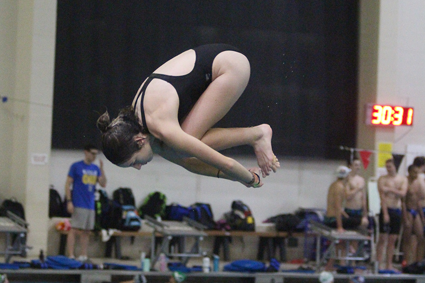 Senior+Kamryn+Bell+dives+into+the+pool+at+the+St.+Peters+Rec-Plex