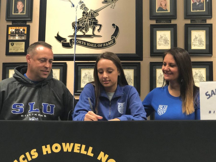 Senior Abbie Miller officially signs with Saint Louis University