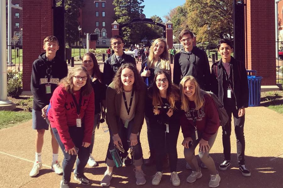 Journalism students attend JournalismSTL at Saint Louis University.