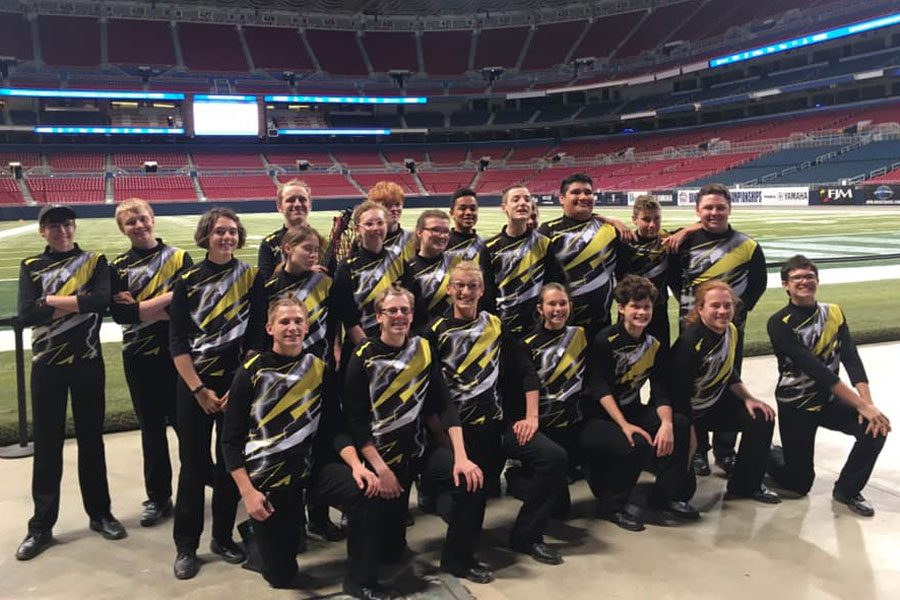 The+Knightpride+Marching+Band+performed+at+the+America+Center+on+Oct.+26.+They+placed+forty-second+out+of+72+bands+and+received+a+ranking+of+%22excellent.%22