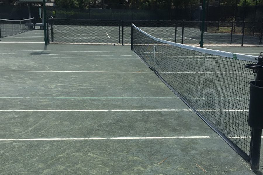 The tennis courts at Hilton Head in South Carolina.