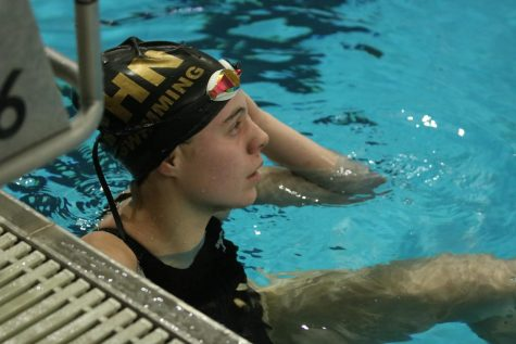 Freshman Ellie Miller Dives Into Her First Impression on Girls Swimming Team