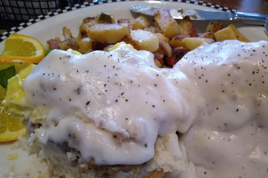Black Bear Diner has been open for a little over a month and has three different portion sizes, according to their menu.