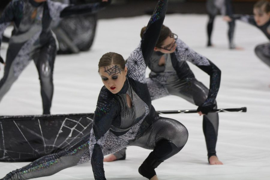 Members of Fox High School's Winter Guard perform during the 2019 Art in Motion competition on Feb. 16.