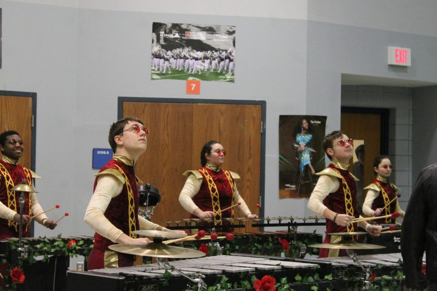 Competitor Kickapoo High School plays a song for the crowd and Judges. The drumlines competition was held at FHHS.