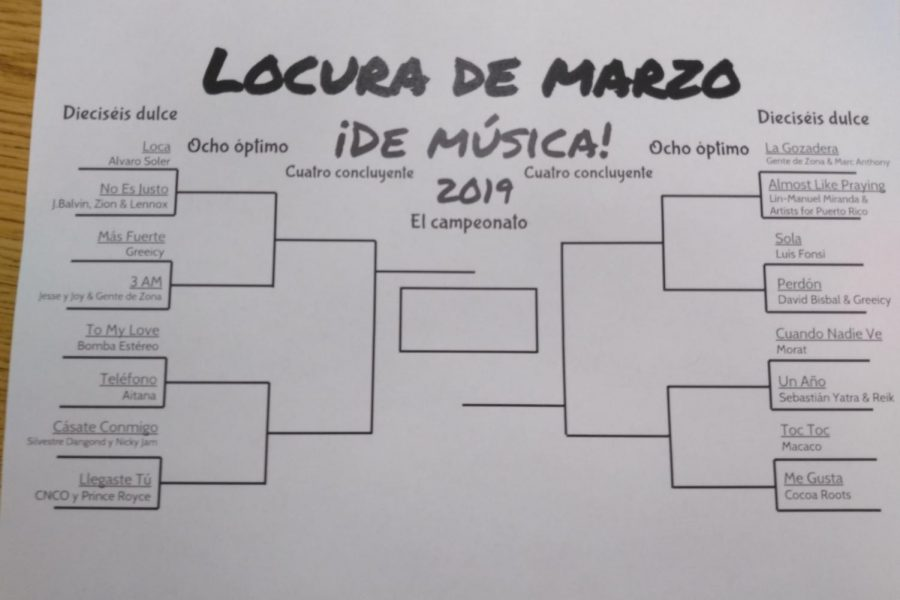 A+bracket+set+up+for+Locura+de+Marzo+by+Spanish+teacher+Mrs.+Green.