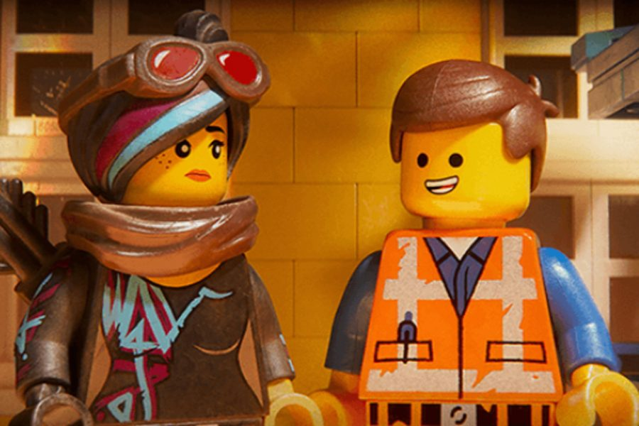 Lead+characters+Wyldstyle+and+Emmet%2C+portrayed+by+Elizabeth+Banks+and+Chris+Pratt+respectively%2C+try+to+save+the+world+in+the+second+installment+of+%22The+Lego+Movie.%22