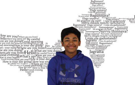 Freshman Pavan Kolluru Speaks Both English and Telugu