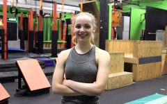 Freshman Laramie Horstman trains for American Ninja Warrior