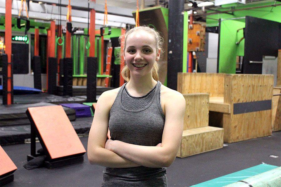 Freshman Laramie Horstman trains for American Ninja Warrior
