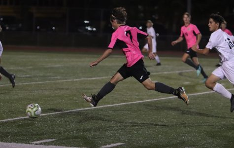 Varsity Boys Soccer Wore Pink Jerseys During the Month of October for Breast Cancer Awareness