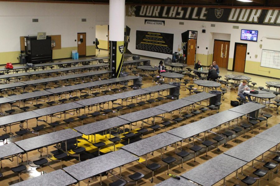 FHN faculty and students eat in the lunchroom every day for lunch. Lunch tables were purchased last year as an improvement to the school. Superintendent Mary Hendricks-Harris and Principal Nathan Hostetler worked together to purchase new tables for the lunchroom. (Photo by Adam Hogan)