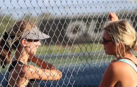Junior Allie Moore Helped to Lead the Girls' Tennis Team