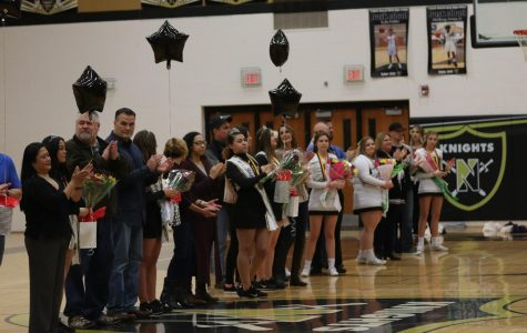 Basketball, Cheer, and Knightline Seniors are Honored on Senior Night [Photo Gallery]