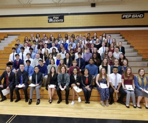 Sophomores and Juniors are Inducted into National Honor Society