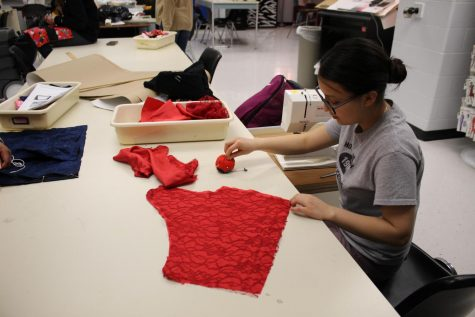 Senior Rocio Romero Works to Craft her Own Prom Dress