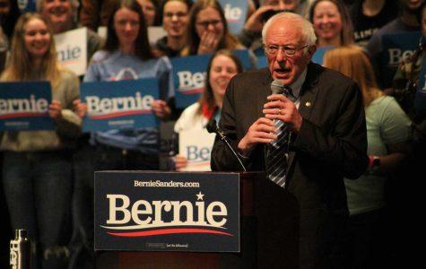 Senator Bernie Sanders Speaks with Missouri Voters Before Primary on March 10