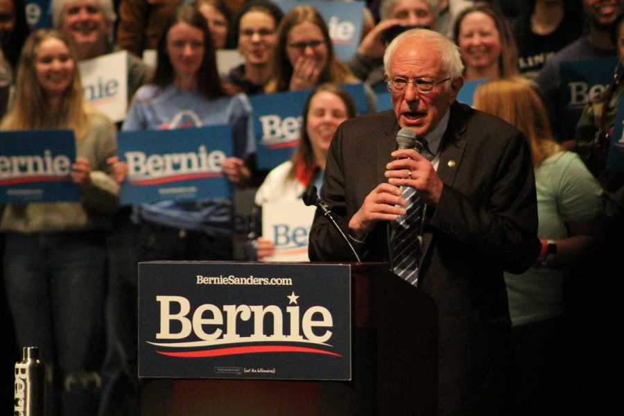 Senator Bernie Sanders Speaks with Missouri Voters Before Primary on March 10