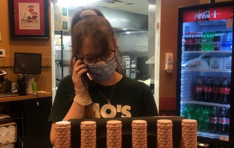 Junior Megan Miller is an Essential Worker at Imo's Pizza During Quarantine