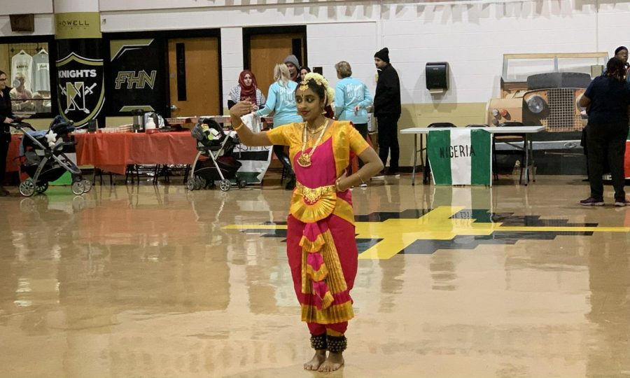 Manisha Muphukaruppan dances the bharatanatya at the International Festival in 2019.