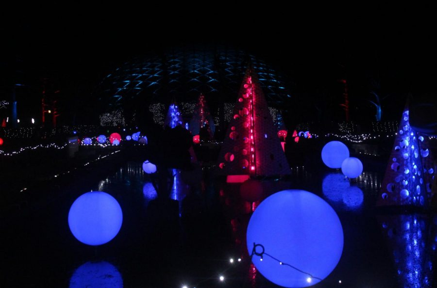 The Botanical Gardens' Garden Glow event uses over one million lights.