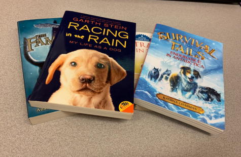 NHS hosted a book drive, where students could bring in old books: these four books were donated by a student.