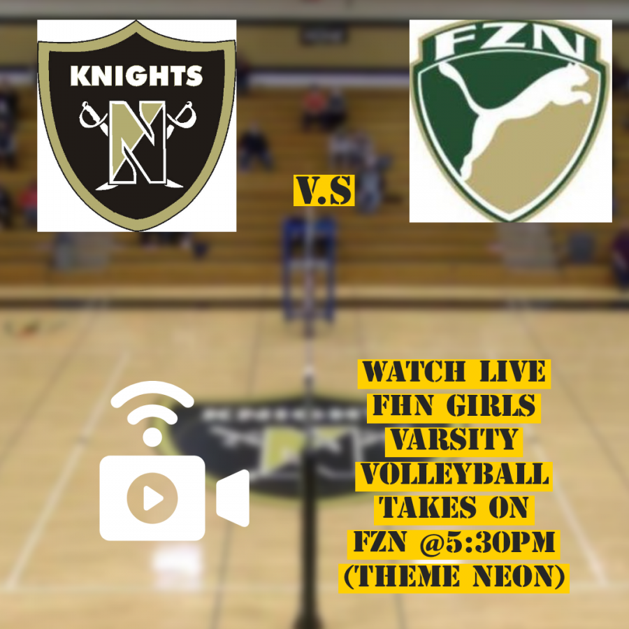 Watch Live FHN Varsity Girls Volleyball Tonight Play Against FZN @5:30 pm!