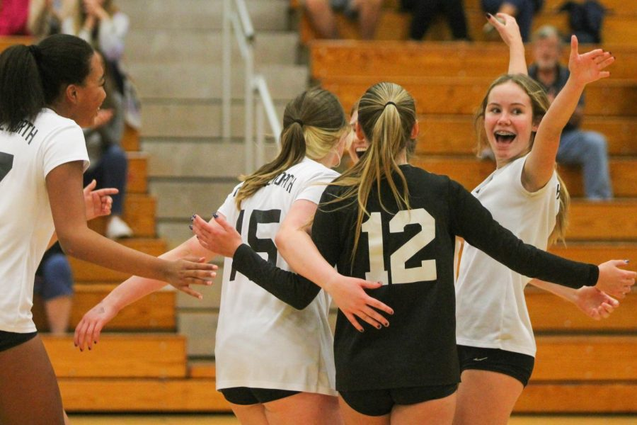 Four Sophomores Play for Both JV and Varstiy Volleyball