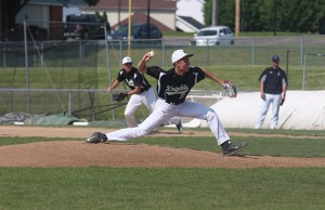 Pitcher Kevin Braudis throws a pitch during a game against FZW last season (file photo)