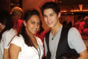 Patel poses with actor Booboo Stewart, who plays Seth Clearwater from the Twilight saga. (photo submitted)