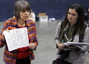 Mary Beth Tinker talks to reporters
