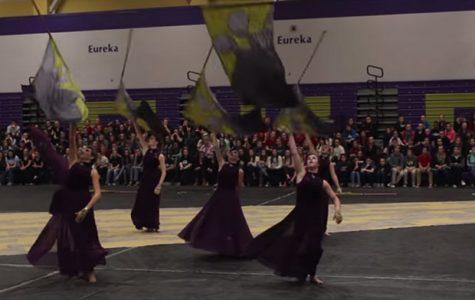 Winter Guard Competes at Eureka High School