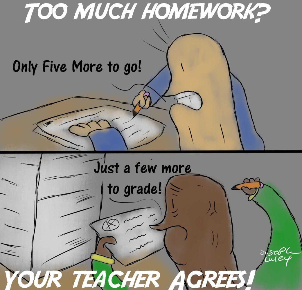 essays about too much homework