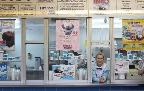 Senior Megan Dagenais works at Fritz's Frozen Custard [Photo Story]