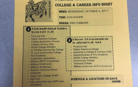 First FHN College and Career Night Tonight in Commons