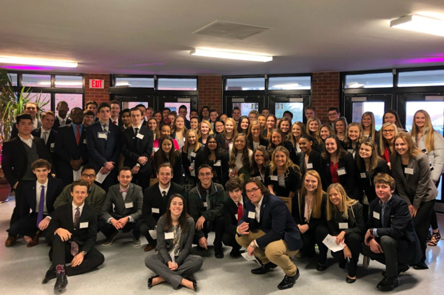 On Feb. 7, DECA had 78 students compete in the DECA District Conference, with 38 of them qualifying for state. (photo submitted)
